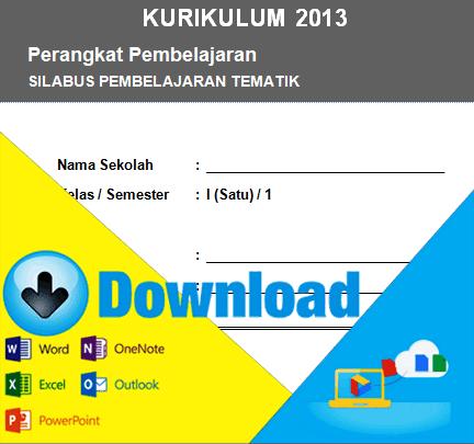 Download Silabus Kurikulum 2013 Kelas 1 SD Semester 1 & 2