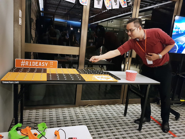 A light moment, where I got to play some simple games at the soft launch event
