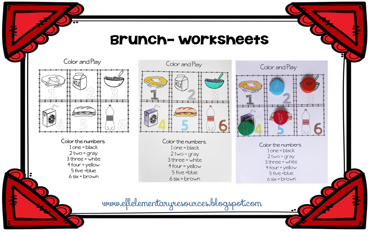 Efl Elementary Teachers Brunch Breakfast And Lunch Theme