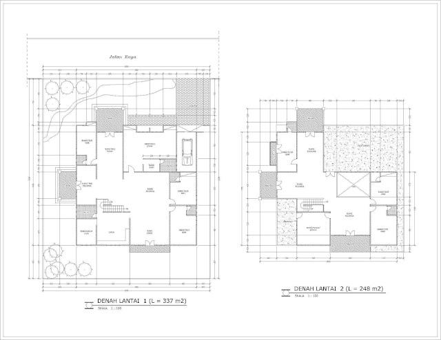 Gambar denah rumah konsep desain minimalis