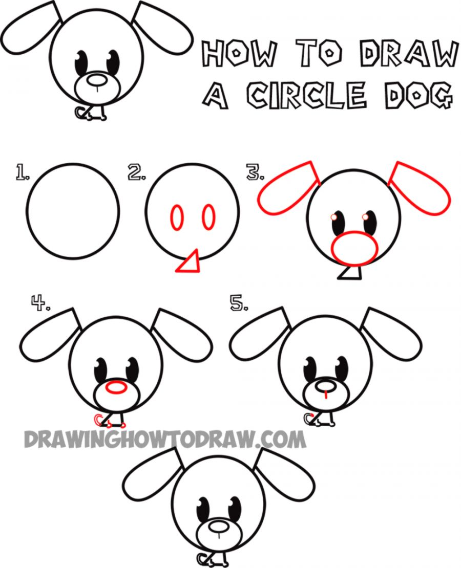 Cute Dogs Drawing Easy Drawing Art Ideas