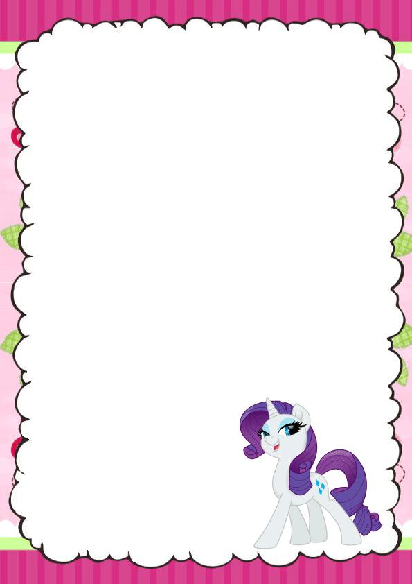 Hermosa caratula para cuaderno de pony