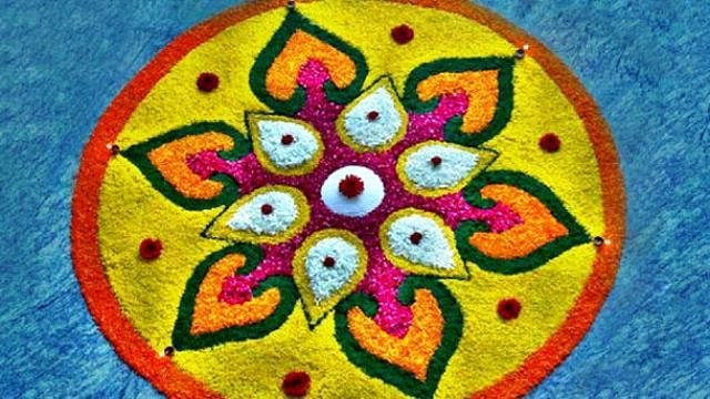 Easy Rangoli Designs No.1