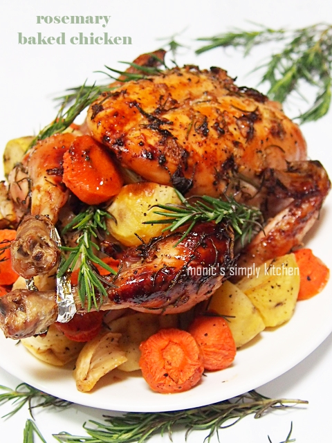 resep rosemary baked chicken
