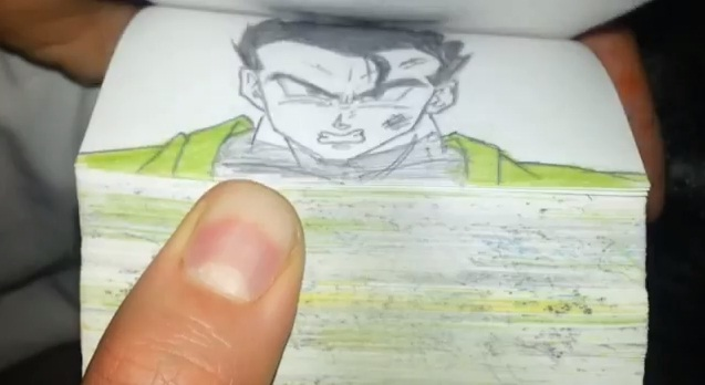 flip book dragon ball z