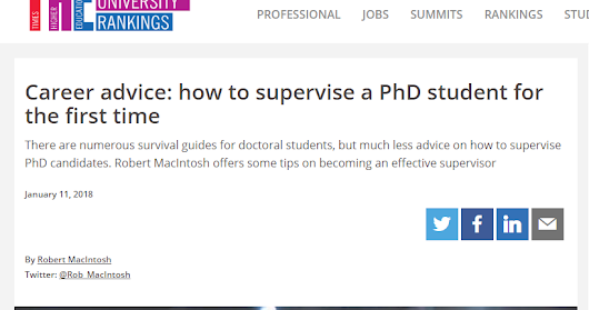 Supervising your First PhD