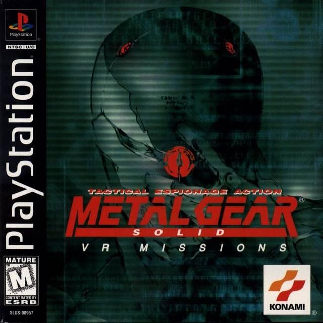 Metal Gear Solid VR Missions - PSX - Portada
