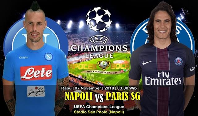 Prediksi Napoli Vs Paris SG 07 November 2018