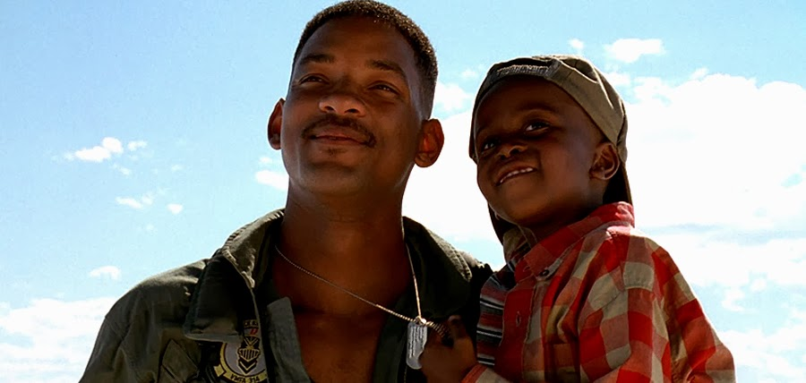 Will Smith şi Ross Bagley în Independence Day 1996