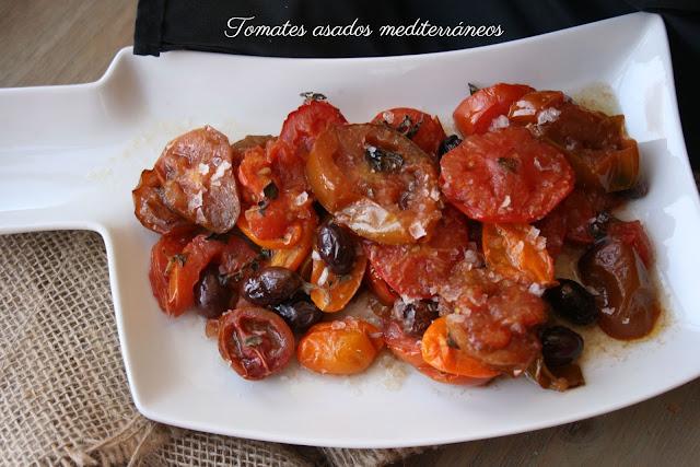 Tomates asados, sal Maldon