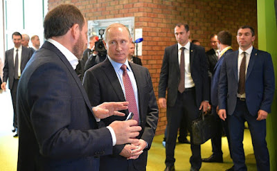 Vladimir Putin visited Moscow office of Yandex IT Company. With Yandex CEO Arkady Volozh.