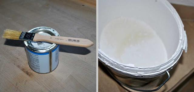 Acryllack und Wandfarbe