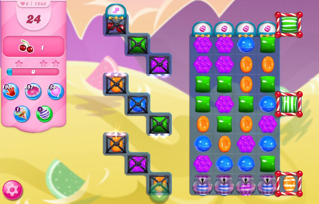 Candy Crush Saga level 7243