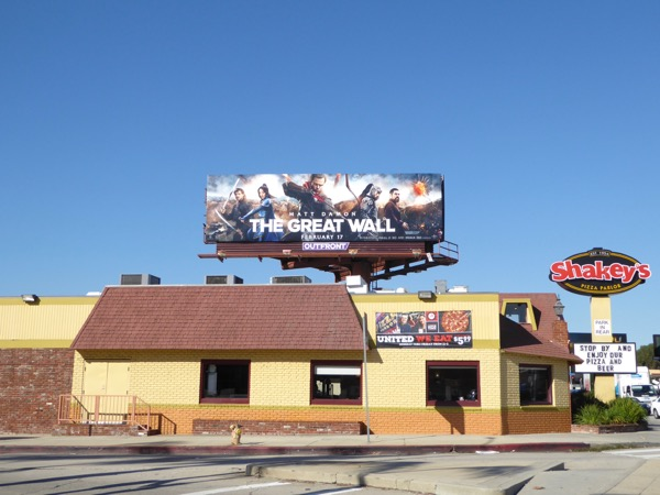 Great Wall movie billboard