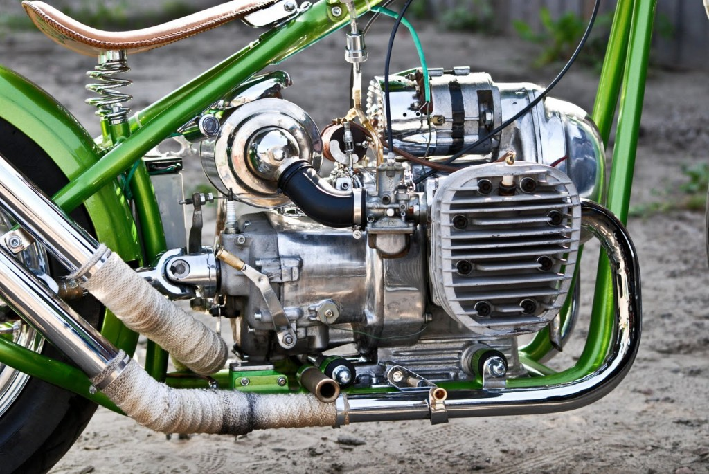 the engine of the custom K-750 bobber