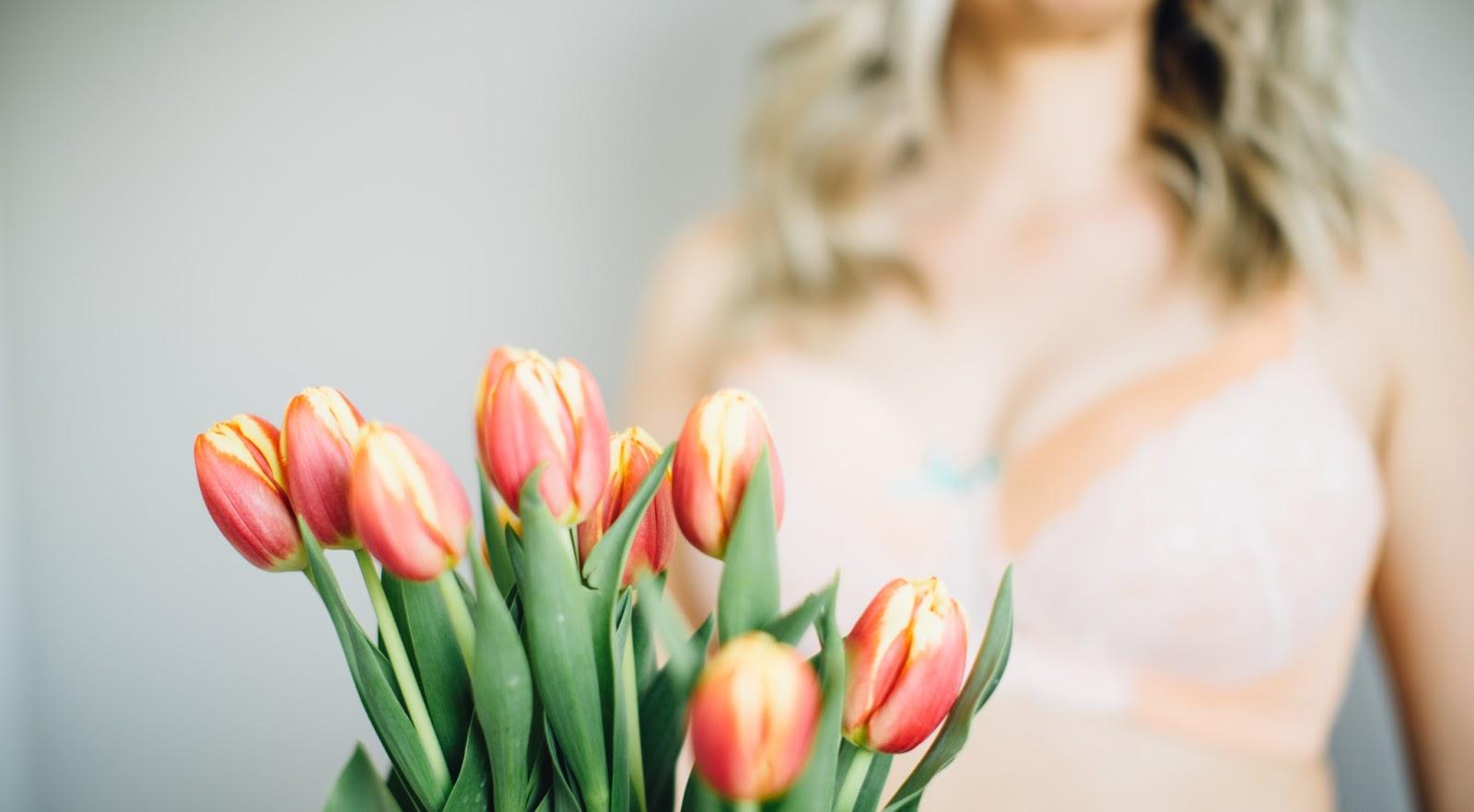 Tulips, Bra, Lace Bra