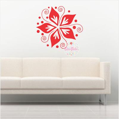 vinilo decorativo pared floral