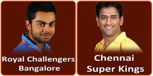 रॉयल चैलेंजर्स बैंगलोर बनाम चैन्नई सुपर किंग्स 18 मई 2013 को है।