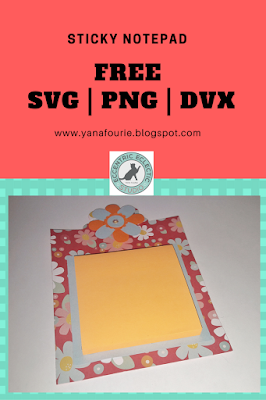 FREE SVG: Sticky Notepad, Cameo Silhouette, DIY, Freebie, Craft, paper,