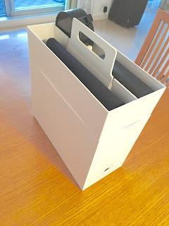 無印良品のポリプロピレン収納キャリーボックスとファイルボックスを重ねる