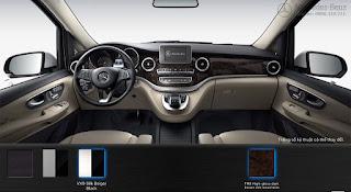Nội thất Mercedes V250 Avantgarde 2017 màu Vàng/Đen VX9