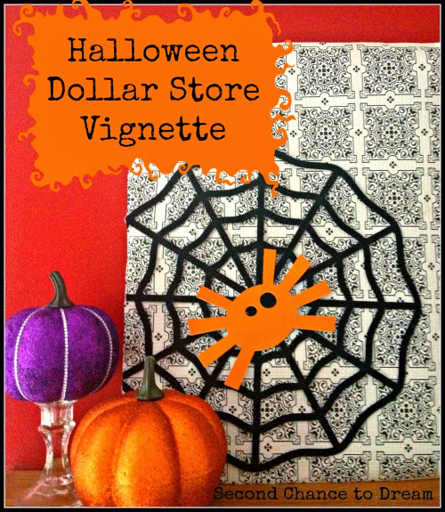 Halloween Dollar Store Vignette from Second Chance to Dream