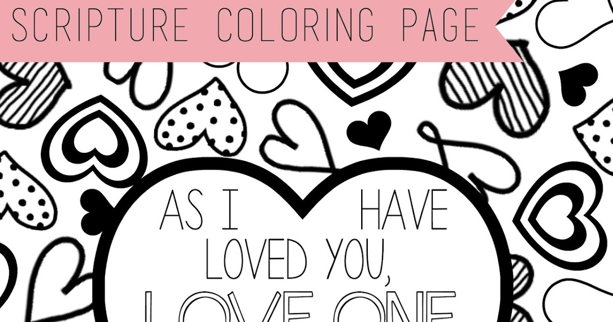 scripture coloring page love one another lds lane - One Coloring Page