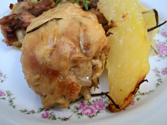 receta casera pollo, asado, horno, limón