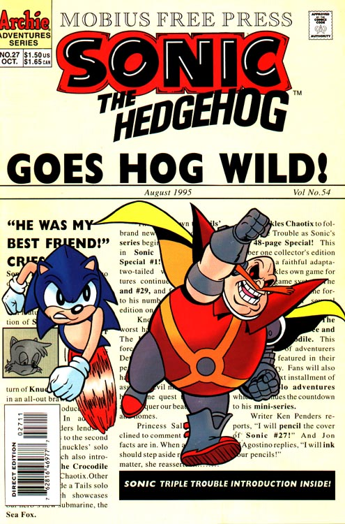 Hedgehogs Can T Swim Sonic The Hedgehog Issue 27