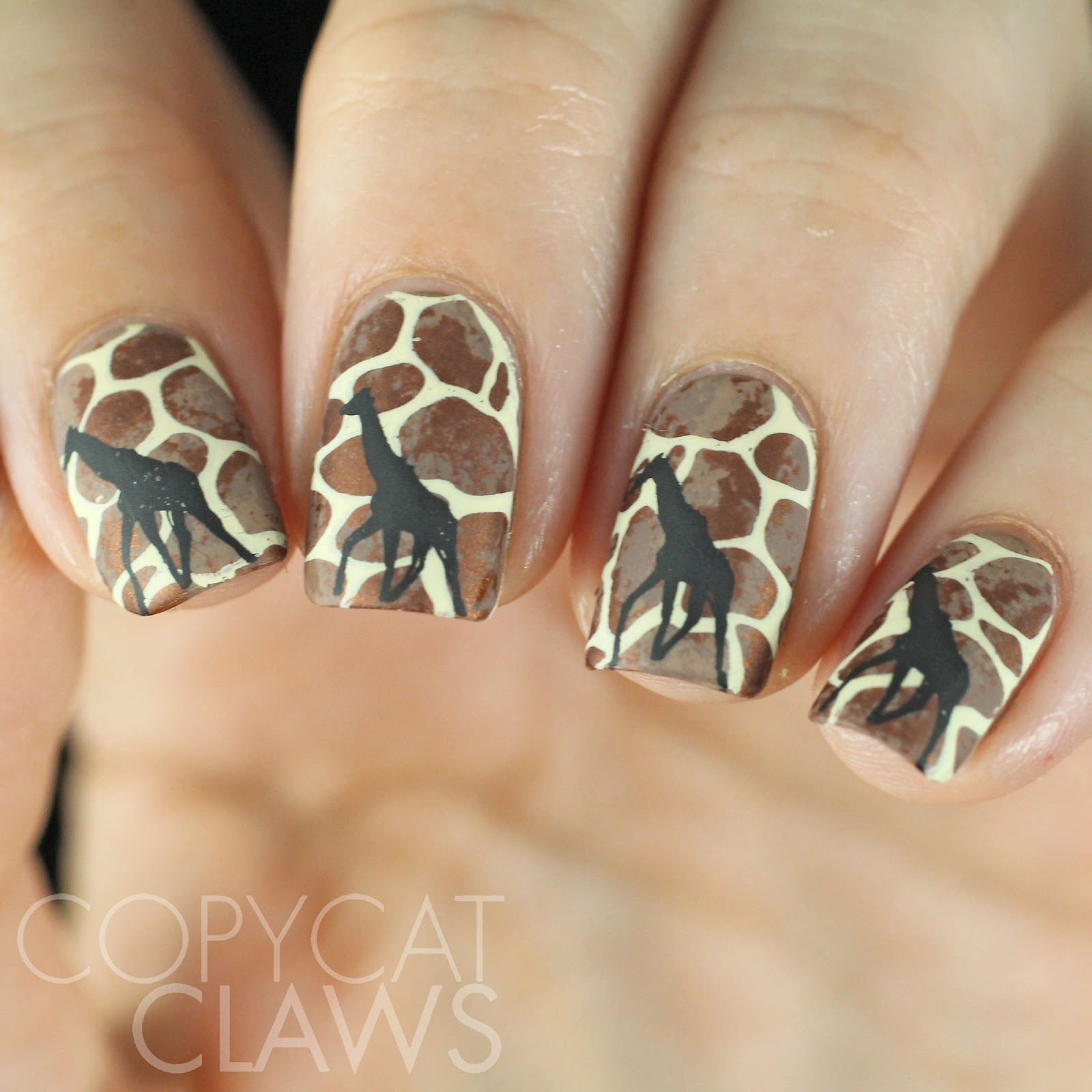 Copycat claws uberchic beauty out of africa 01 stamping plate review the full plate measures 95 cm x 145 cm with each full nail design measuring 17 mm x 21 mm amongst if not the largest on the prinsesfo Images