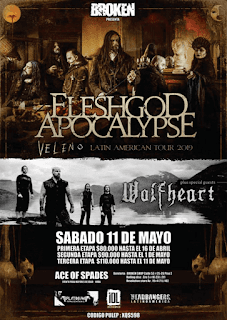 Concierto de Fleshgod Apocalypse & Wolfheart en Bogotá 2019