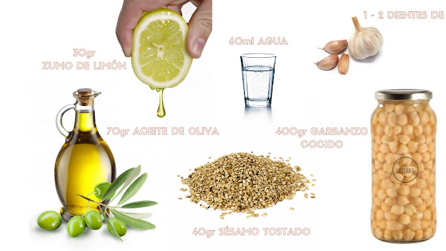 Ingredientes Hummus