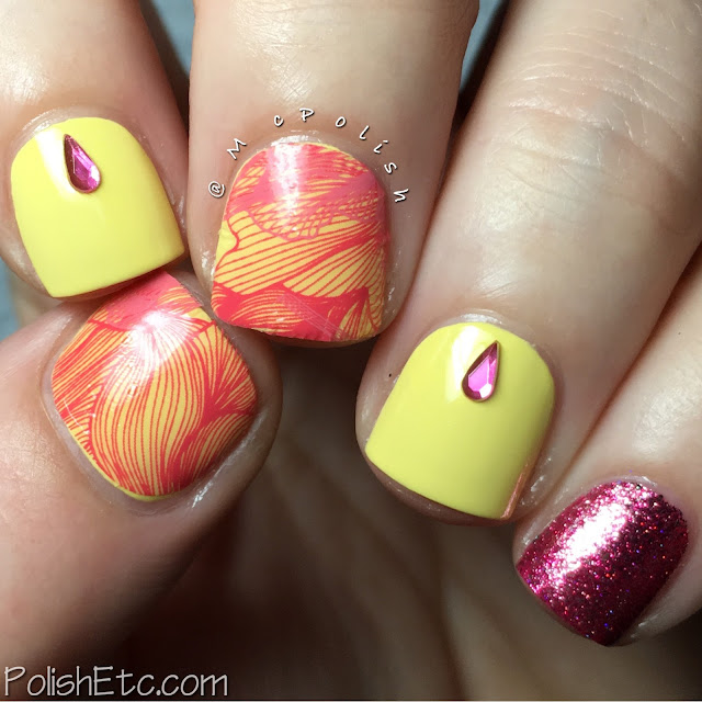 Yellow and Pink Skittlette - #31DC2016Weekly - McPolish