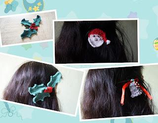 free crochet headwear patterns, free crochet Xmas motif patterns