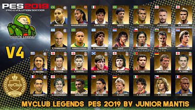 PES 2019 PS4 MyClub Legends Offline v4 by Junior Mantis