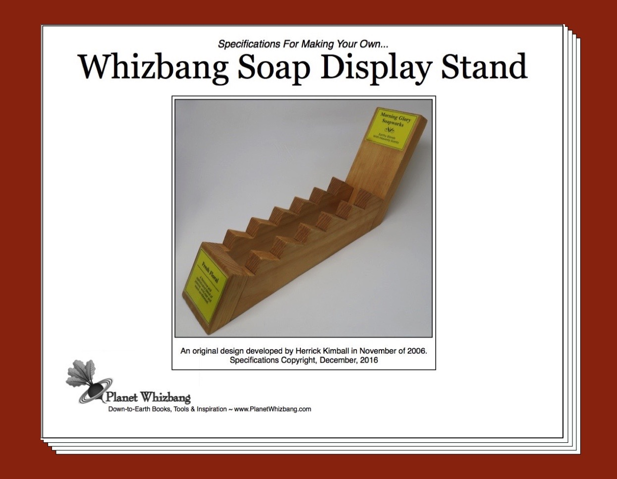 Upland My Famous Whizbang Soap Display Pdf Plans Now Available
