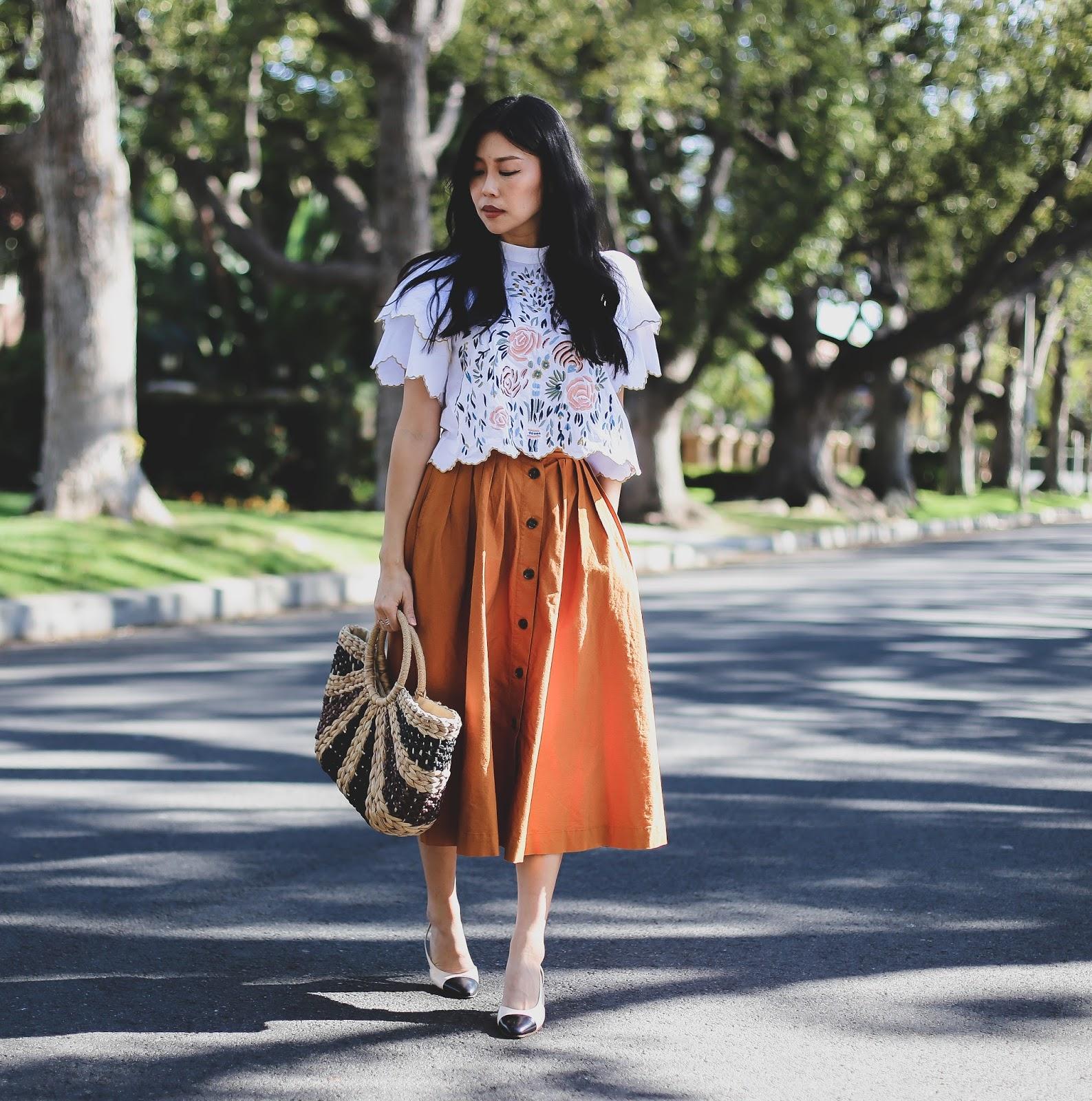 chanel slingbacks outfit
