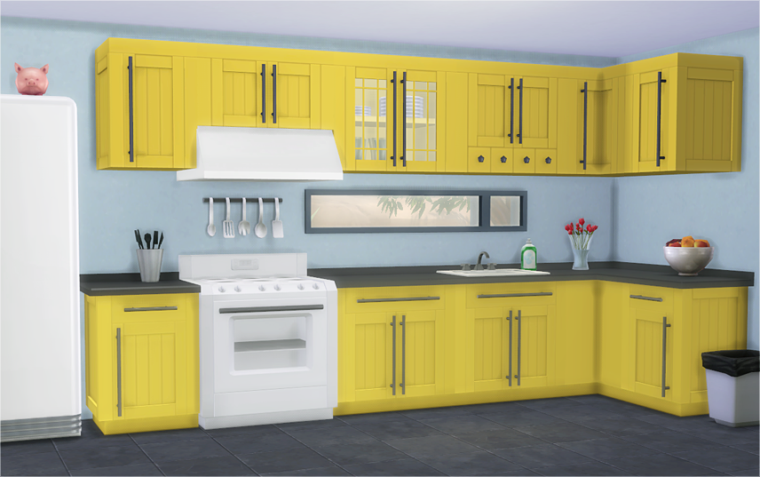 My Sims 4 Blog: TS3 Bayside Kitchen Cabinet Conversions by ...