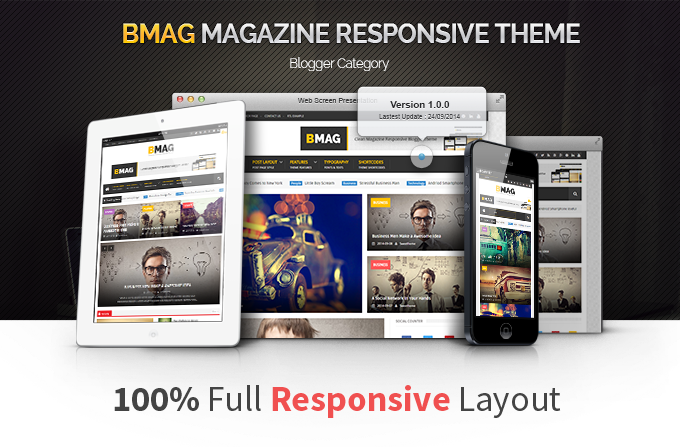 BMAG Responsive Premium Blogger Template