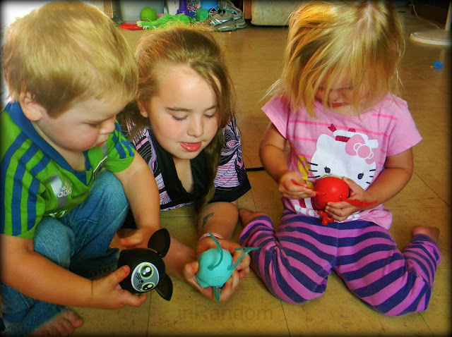 kids with their Mattel Newbies
