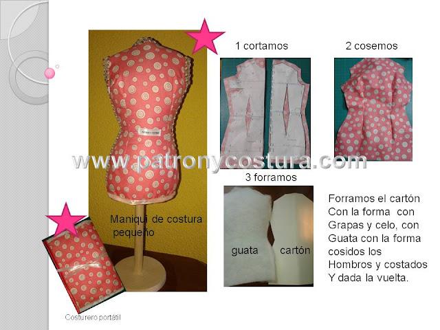 www.patronycostura.com/diy maniquí de costura pequeño .Tema 185