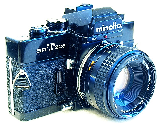 Minolta SRT-303 35mm SLR Film Camera