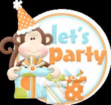 Little Jungle Animals Celebrating a Birthday.