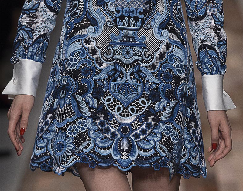 Valentino 2013 14 Fall Winter Delft Dresses