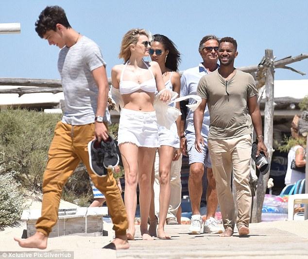 Lily Donaldson in a white bikini - Saint Tropez getaway