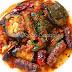 Guiso de salchichas con pimientos y berenjenas (Spetzofai)