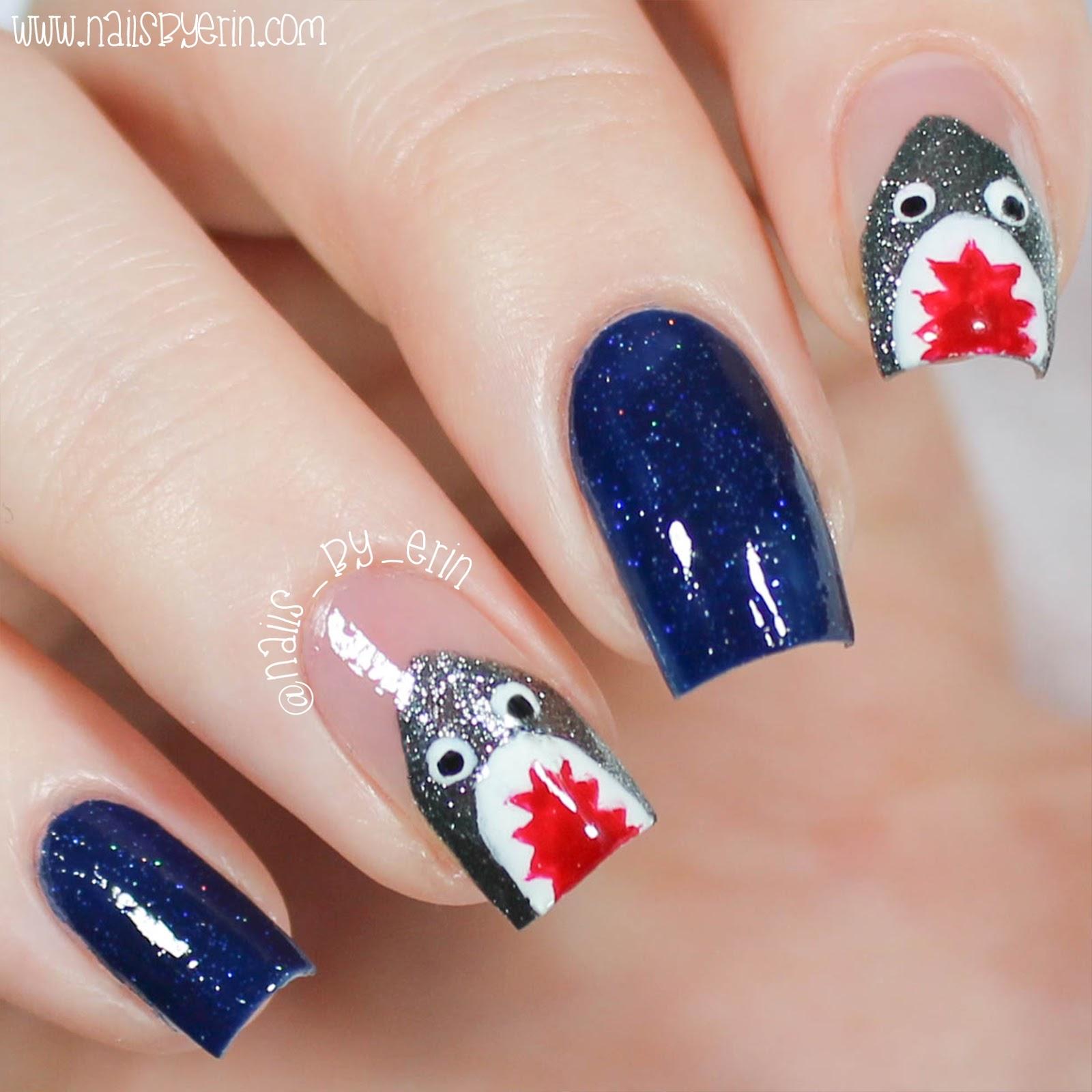 NailsByErin: Shark Week Nails & Live Love Polish \