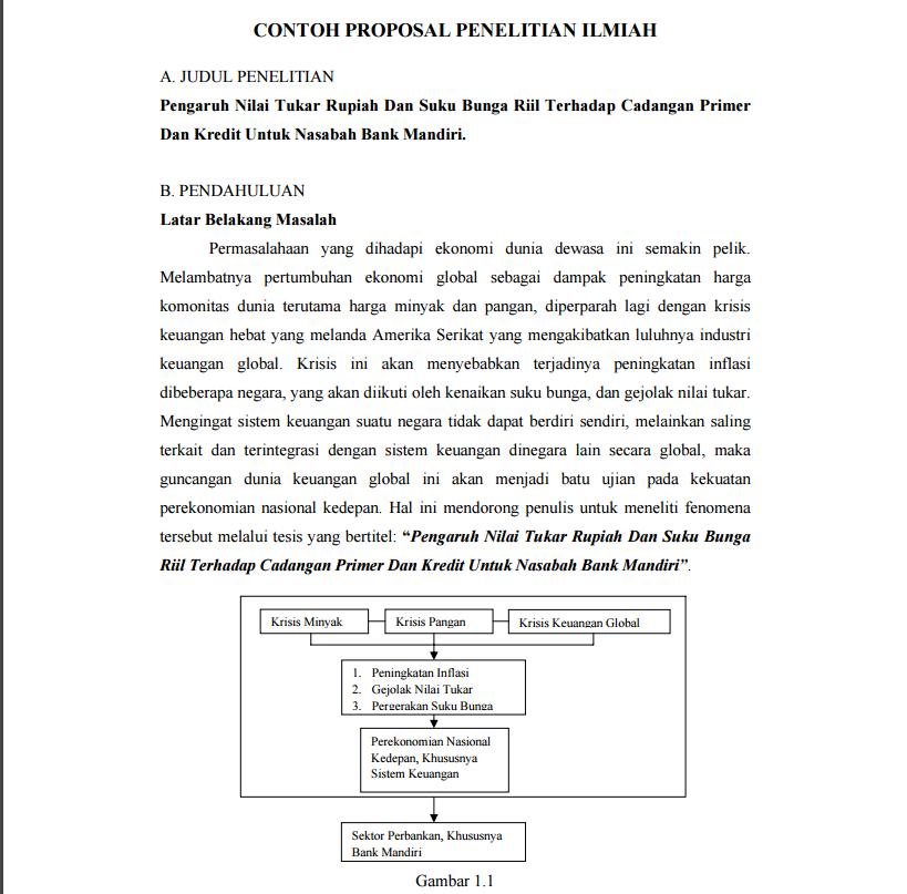 Download Contoh Proposal Penelitian Pdf