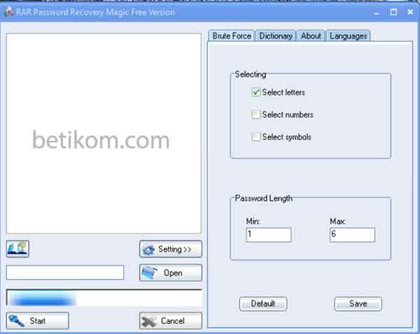 membobol password file rar