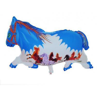 Balon Foil Karakter Kuda Biru